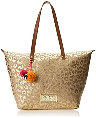 Betsey Johnson Glam-A-Zon Tote,Natural,One Size