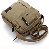 #2: Magideal Unisex Fashion Retro Canvas Bag Shoulder Travel Bag Coffee