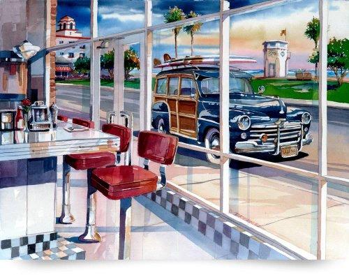 The Diner (Giclee Art Print), Bill Drysdale