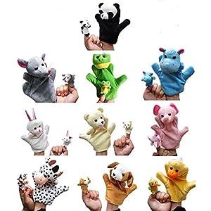 Milanao Story Time Finger Puppets-20pcs Velvet Animal Style Hand & Finger Puppets Set