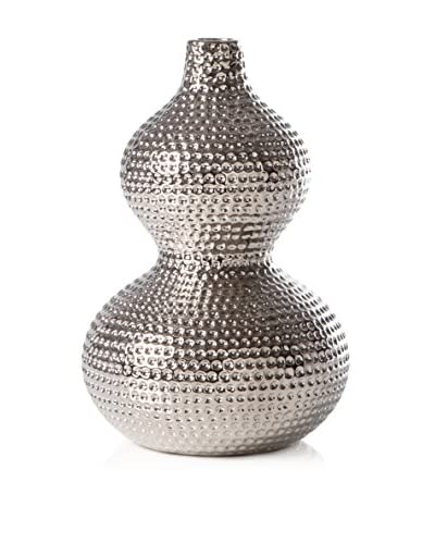 Torre & Tagus Helio Hammered Double Bulb Vase, Large
