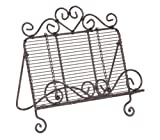 Wrought Iron Country Heart COOKBOOK HOLDER stand prop Easel