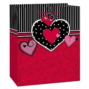 Unique Parisian Hearts Gift Bag, Medium