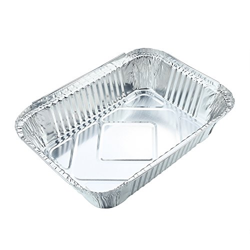 10pcs Square Disposable Aluminum Foil Pans Food Storage Containers Bakeware Pans with Lids-Crystallove (Size 4) (Aluminum Cooking compare prices)