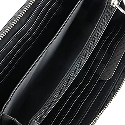 Guess Athina Slg Large Zip Around, Porte-Monnaie Femme, Noir (Nero), Taille Unique
