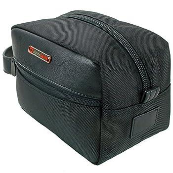Alpine Swiss Hudson Travel Toiletry Bag Shaving Dopp Kit Black 2