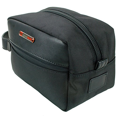 Alpine-Swiss-Hudson-Travel-Toiletry-Bag-Shaving-Dopp-Kit-Black