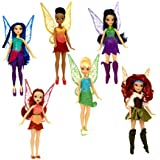 Tinker Bell and The Pirate Fairy Figurines, 6 Pack