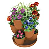 3-Tier Resin Terracotta Flower and Herb Tower Planter