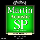 Martin SP 80/20 Acoustic Guitar Strings - Bronze Wound Extra (Light, .010 - .047)