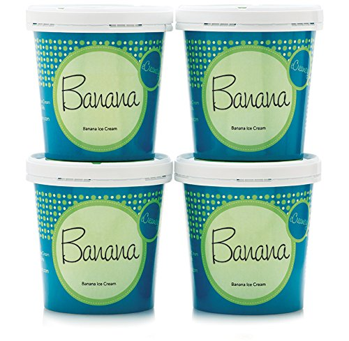 eCreamery Classic Banana Ice Cream - 4 pack