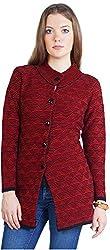 Montrex Women's Plain Coats (Montrex-8401Maroon, Maroon, XXL)