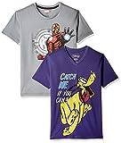 Kidsville Boys' T-Shirt (MC1KB01_Multi_9 - 10 years)  Combo Tee pack of 2