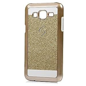 RIdhaniyaa [Samsung Galaxy J2 (2016/ J210) ]Glittering Sparkle Hard Back Cover - (Gold,Transparent)