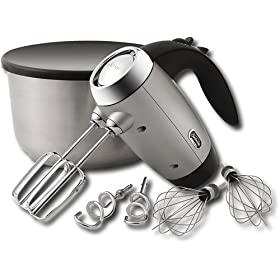 Sunbeam 2551 Heritage Series 6-Speed 250-Watt Hand Mixer, Silver
