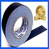 The Best Gaffer Tape by GAFFER'S CHOICE: 60 Yard x 2 inch Roll Professional Gaffer Tape (White Also Available) - THE SAFEST Premium Grade Cloth Matte Black Gaff Tape - Better Than Regular Gaffer Tape, Our Completely Unique Gaffer Tape/Paper Tape Hybrid Provides Maximum Versatility (you can't find this anywhere else) - Leaves No Sticky Residue Behind on Almost All Surfaces (Unlike Duct Tape) - Easily Torn By Hand - Strong and Durable - Multipurpose for Home, Office, Automotive and MORE!