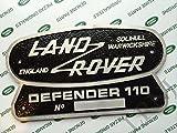 LAND ROVER SOLIHULL WARWICKSHIRE ENGLAND DEFENDER 110 ORIGINAL BADGE EMBLEM NAMEPLATE