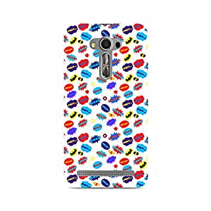 Mobicture All Superheroes on white clipart Premium Printed Case For Asus Zenfone 2 Laser ZE550KL