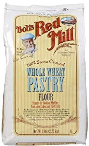 Bob's Red Mill Pastry Flour Whole Wheat, 5 lbs