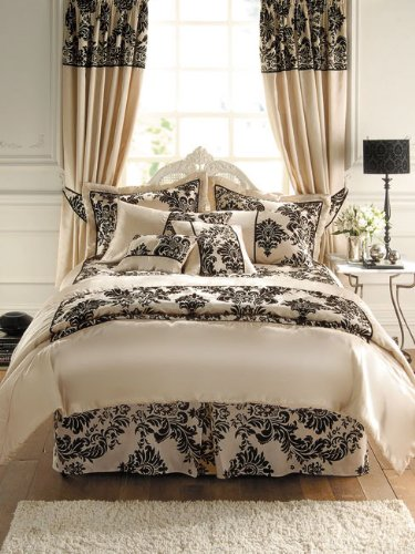 Gaveno Cavailia 'Royal Armask' Cream/Chocolate King Bedspread with 2 Pillowshams