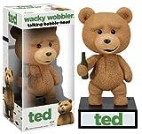 Talking Ted Bobble Head Figure: Wacky Wobblers Series