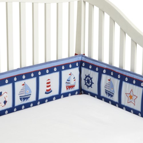 Navy And White Baby Bedding 3545 front