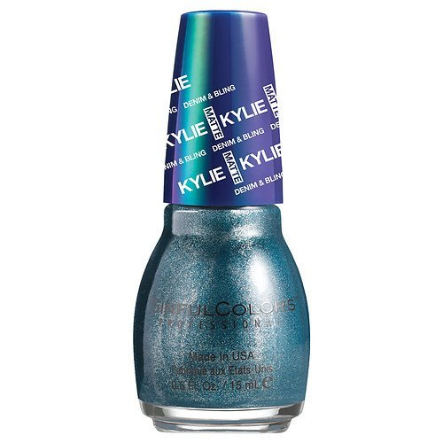 SinfulColors Kylie Jenner Denim & Bling Collection Nail Polish, Kargo (Navy Blue Metallic) 0.5 oz/15ml by Sinful Colors