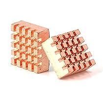 Aukru 2x cuivre Heatsink dissipateur thermique pour Raspberry Pi B+ / Pi 2 Model B - Cooler Cooling