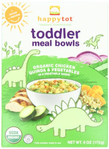 Happy Tot Toddler Meal Bowls, Chicken, Vegetables and Quinoa, 6 Ounce Boxes (pack of 12)