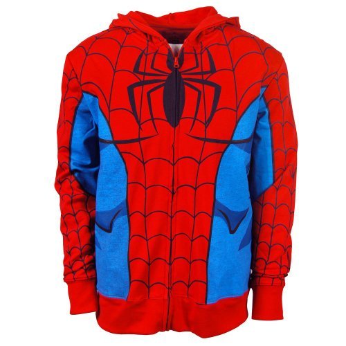 Freeze Mens Spiderman Costume Hoodie Red Red Small - Chest 38-40in