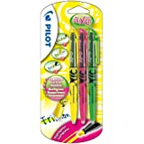 Pilot Frixion Light Erasable Highlighter 4 mm Tip - Yellow/Pink/Green, Pack of 3