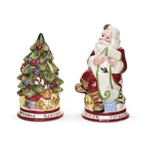 Spode Christmas Tree Sculptural Santa And Tree