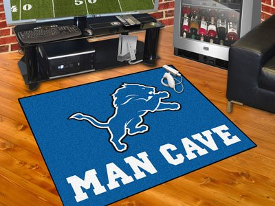 "Detroit Lions Man Cave All-Star Rug 34""x45"" - FAN-14300"