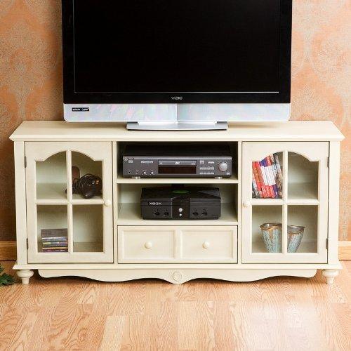 Cheap Plasma LCD TV Stand Console Cottage Style Antique White Finish (AZ00-46396×20600)