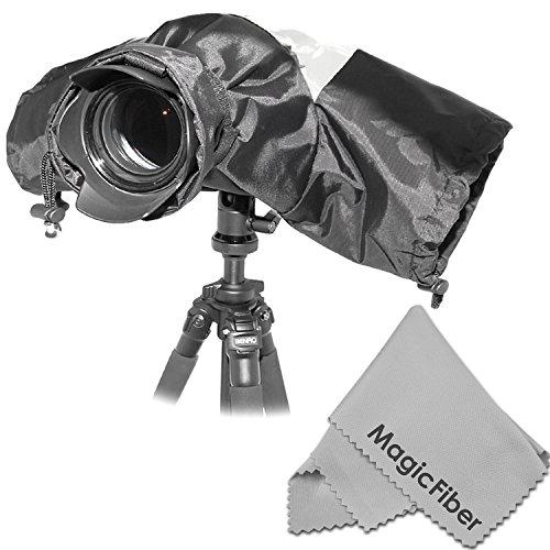 Altura Photo Professional Rain Cover Camera Protector For Large Dslr Cameras (Canon Rebel Eos T5I T4I T3I T3 T2I T1I Sl1 Xt Xti 70D 60D 7D 6D 5D Mark Iii, Nikon D7100 D7000 D5300 D5200 D5100 D5000 D3300 D3200 D3100 D3000 D90 D80) + Magicfiber Microfiber L