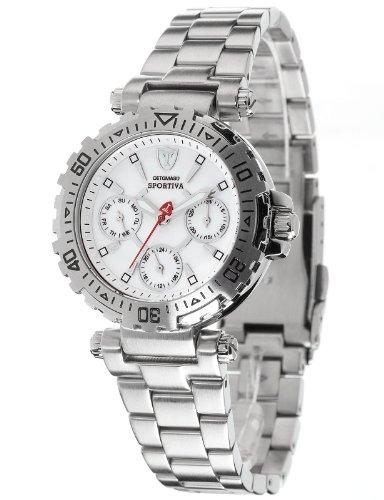 Detomaso DT3016-B - Reloj analógico de cuarzo para mujer con correa de acero inoxidable, color plateado