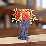 Paper Spiritz 3D Pop Up Greeting Card Handmade Lucky Tree Birthday Valentine's Anniversary Easter Thank You Best Wish Congratulations Father's Mother's Day