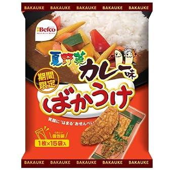 栗山米菓 ばかうけ夏野菜カレー味 15枚×12袋