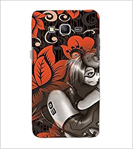 PrintDhaba Music Girl D-4115 Back Case Cover for SAMSUNG GALAXY GRAND PRIME (Multi-Coloured)