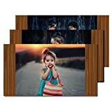 Magnetic Photo Frame - Teak Wood - Tripple Pack