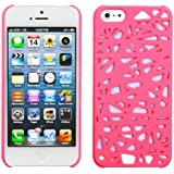 Leegoal(TM) Hot Pink Bird Nest Rear Hard Case Cover fit for the new iPhone 5 5S With Accessories Sreen Protector,Anti Dust Plug