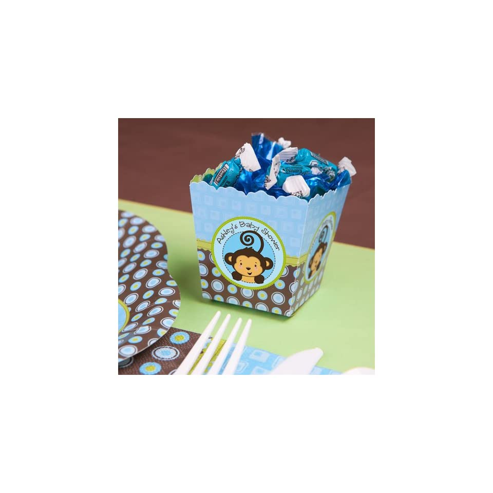 Monkey Boy   Personalized Candy Boxes for Baby Showers
