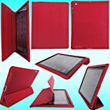 "ORIGINAL IProtect Apple iPad 2 Case HIGHCLASS Tasche inkl. Aufsteller WAKE UP FUNKTION f�r das Apple iPad 2, rot Smartcover Smart Covervon ""iprotect"""