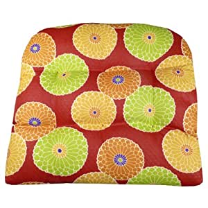 Amazon.com : Large Patio Chair Cushion - Diamond Daze Quilted Red