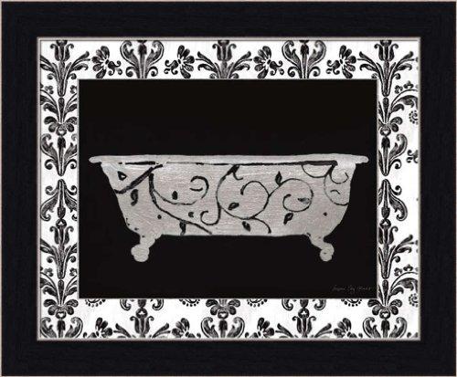 Paris Hotel Tub Iii By Susan Eby Glass Black White Bathroom Wall Art Print Framed Décor front-557698