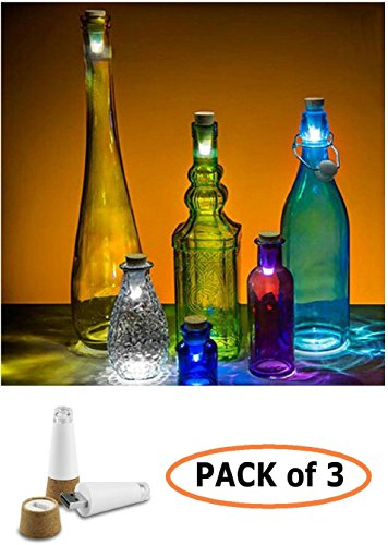 JEBSENS - 3 Packs Cork Shaped Rechargeable LED Bottle Light for these Portable Bluetooth Speaker Reviews - Big Sound Small Budget Portable Wireless Speaker Reviews