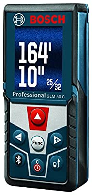 Bosch GLM 50 C Bluetooth Enabled Laser Distance Measurer with Color Backlit Display from BOSR9