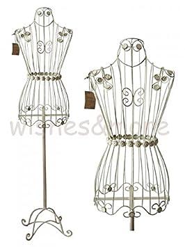 gro e schneiderpuppe 160cm vintage shabby stil creme wei schneiderb ste metall us74. Black Bedroom Furniture Sets. Home Design Ideas