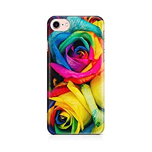 Motivatebox - Awesome Colorful Roses Apple Iphone 7 cover - Matte Polycarbonate 3D Hard case Mobile Cell Phone Protective BACK CASE COVER. Hard Shockproof Scratch-Proof Accessories