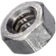 "303 Stainless Steel Hex Nut, Plain Finish, Right Hand Threads, Class 2B #00-90 Threads, 0.040"" Height, Made in US (Pack of 1000)"
